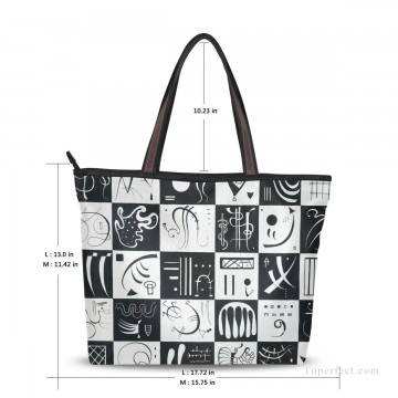 Personalized Canvas Tote Bag Purse contemporary abstract painting Thirty Trente USD19 2 Oil Paintings